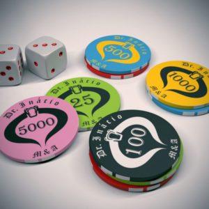 ficha de ceramica para jogos planet poker