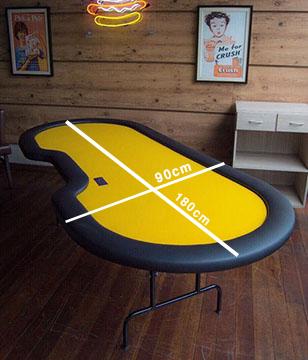 mesa de poker compacta profissional 180x90