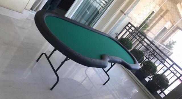 mesa profissional de poker para casa pe dobravel